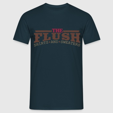 The Flush logo shirt blauw - Mannen T-shirt
