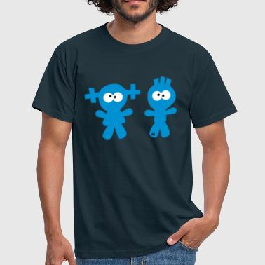 Girl and Boy Twins Couple - Men's T-Shirt