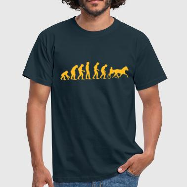 pferderennen_evolution - Men's T-Shirt