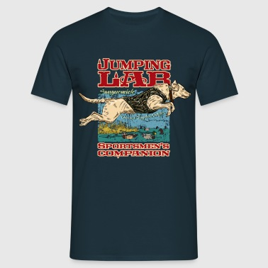 jumping_labrador - Men's T-Shirt