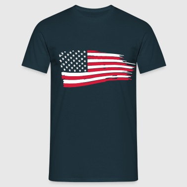 usa_flag_on_blue - Männer T-Shirt