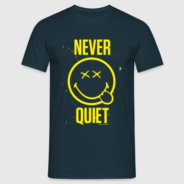 SmileyWorld Jamais Silencieux Never Quiet - T-shirt Homme