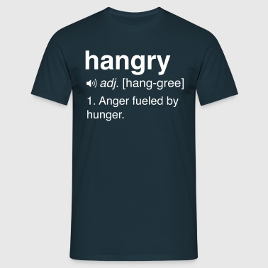 Hangry Definition - Men's T-Shirt