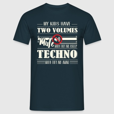 Two Volumes Techno - Männer T-Shirt