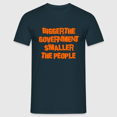 Bigger the government - Men's T-Shirt