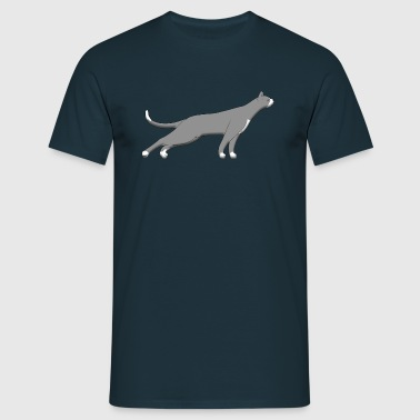 Cat stretches F - T-shirt Homme