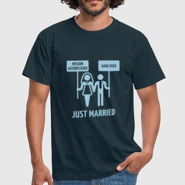 Just Married – Mission Accomplished – Game Over - Men's T-Shirt