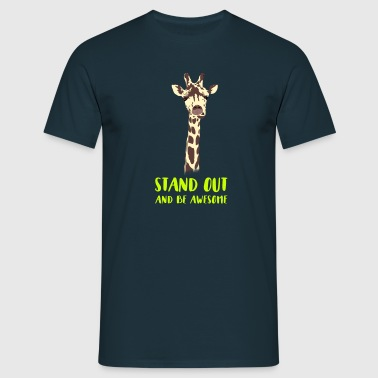 giraffe stand up tall prompt veeleisende hi - Mannen T-shirt