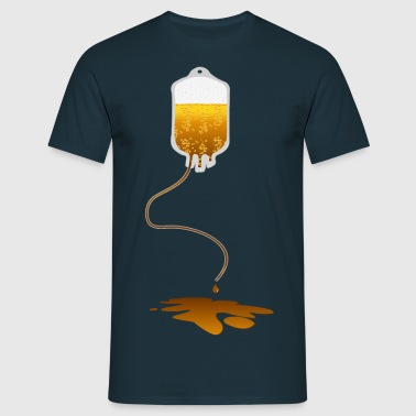 leaking blood bag with beer  - Men's T-Shirt