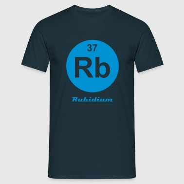 Element 37 - rb (rubidium) - Minimal-inverse - Männer T-Shirt