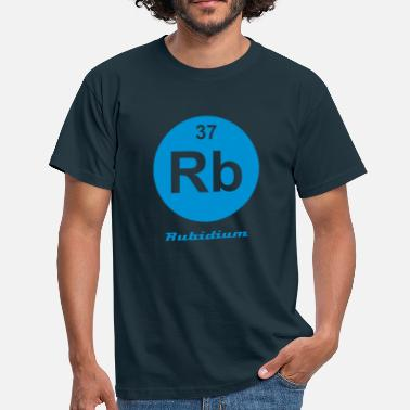 Rb Element 37 - rb (rubidium) - Minimal-inverse - T-shirt Homme