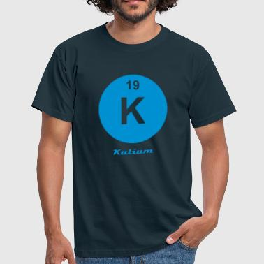 Element 19 - k (kalium) - Minimal-inverse - T-skjorte for menn
