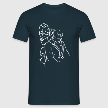 bjj_hug__goodnight_dear_2 - Men's T-Shirt