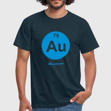 Element 79 - au (aurum) - Minimal-inverse - Männer T-Shirt