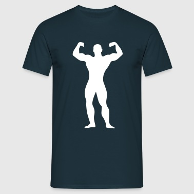 flexing man - Men's T-Shirt