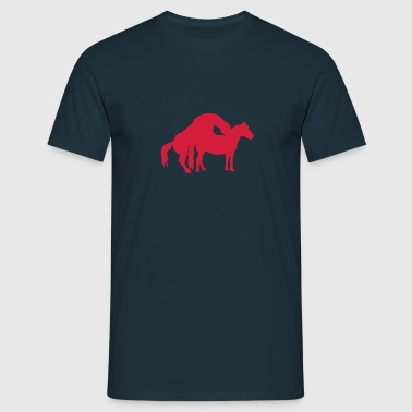 chevaux cheval amour saillie 0 - T-shirt Homme