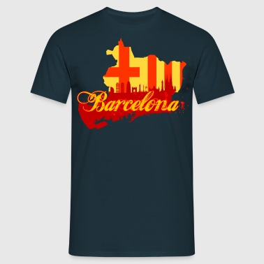 barcelona map - Männer T-Shirt