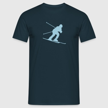 skiing downhill - Men's T-Shirt