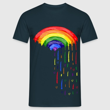 Love Rainbow Rain - Men's T-Shirt