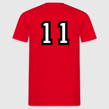 The number 11 - number eleven - Men's T-Shirt