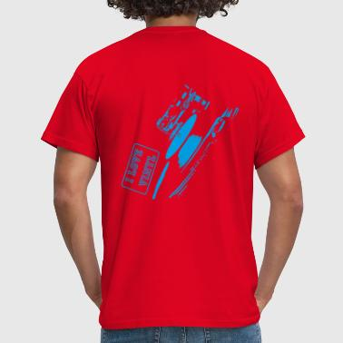 I Love Vinyl - blue - Mannen T-shirt
