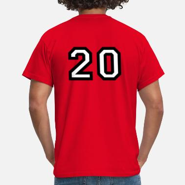 Number-20-twenty The number 20 - number twenty - Men's T-Shirt