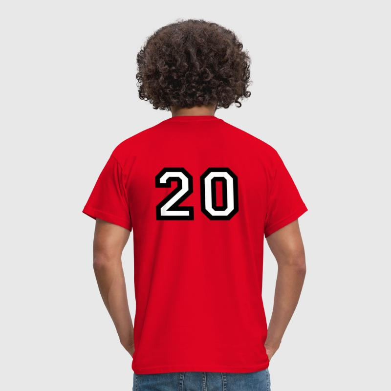 The number 20 - number twenty - Men's T-Shirt