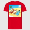 Santa Beach - Men's T-Shirt