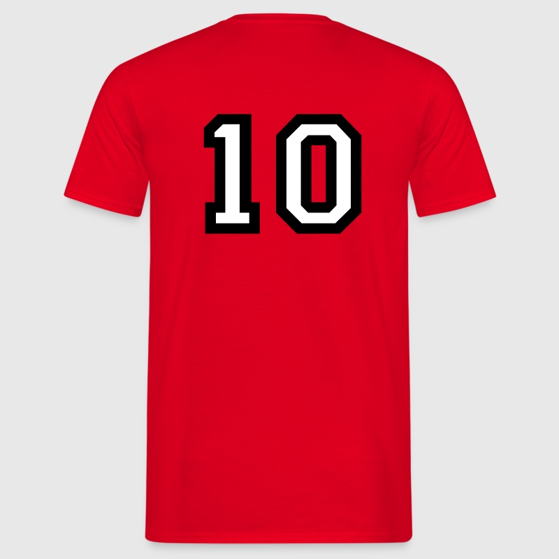 The number 10 - number ten - Men's T-Shirt