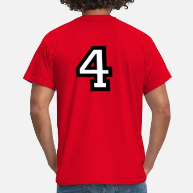 4 Number Four - Number 4 - Men's T-Shirt