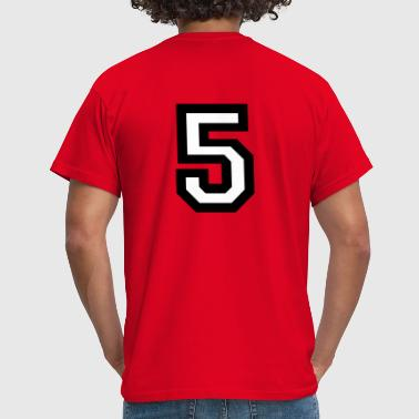Number five - the number 5 - Men's T-Shirt