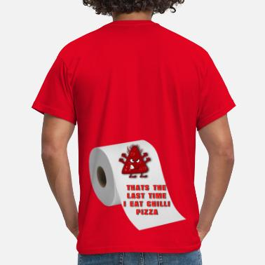 Chilli Jokes Chilli pizza - Men's T-Shirt