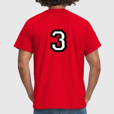 The Number Three Number Three - The number 3 - Men's T-Shirt