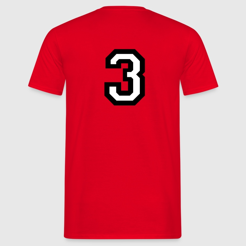 Number Three - The number 3 - Men's T-Shirt