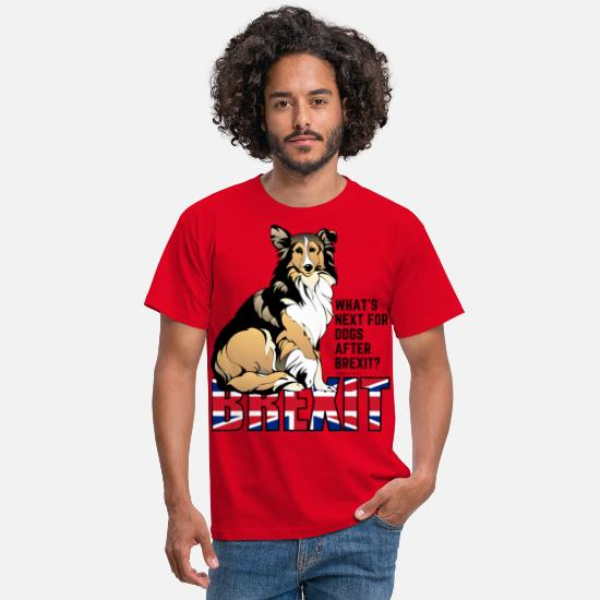 Brexit T-Shirts - Brexit and Dogs - Men's T-Shirt red
