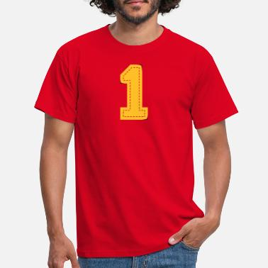 Gewinner number one patch - Männer T-Shirt