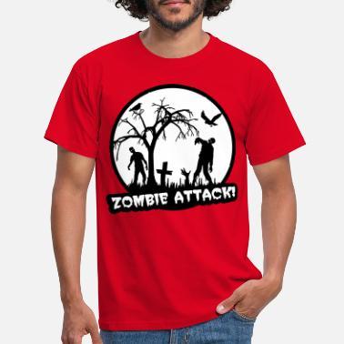 81922f6f1 Men's T-Shirt. werwolf_a_3c. from £15.44. Zombie Attack - Halloween -  Men's ...