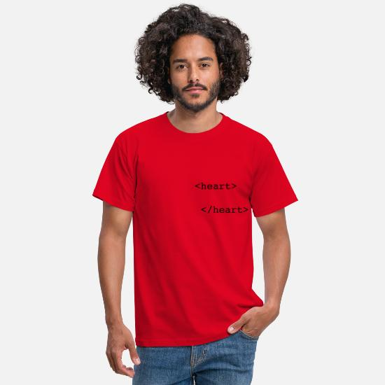 Funny T-Shirts - html heart - Men's T-Shirt red