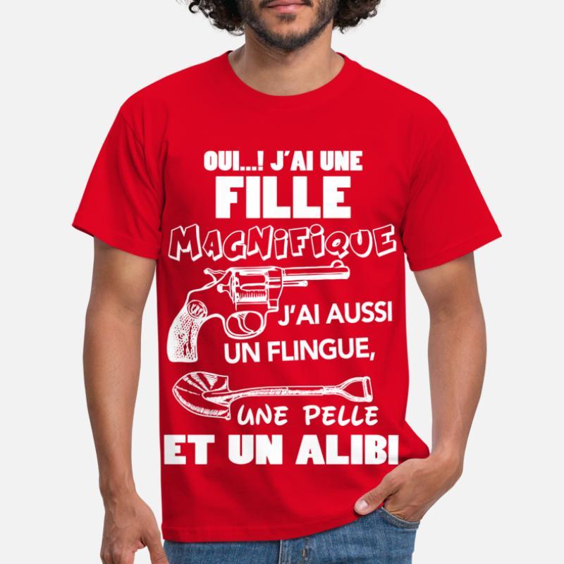 T shirts Oui J Ai Une Fille à commander en ligne | Spreadshirt