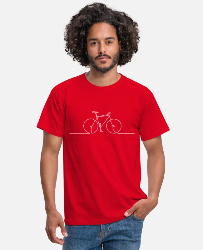 Hipster T-shirts - bike 1 Strich - Mannen T-shirt rood