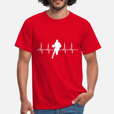 Dark Wave Simple Basket Ball Heartbeat Design - Männer T-Shirt