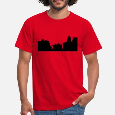 Oxfordshire oxford skyline - Männer T-Shirt