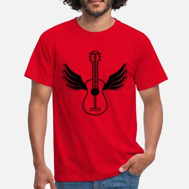Mushroom guitar wing fly angel sky learn cool s - Men's T-Shirt