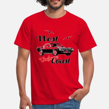 Coast West Coast Custom Muscle Car - Men's T-Shirt