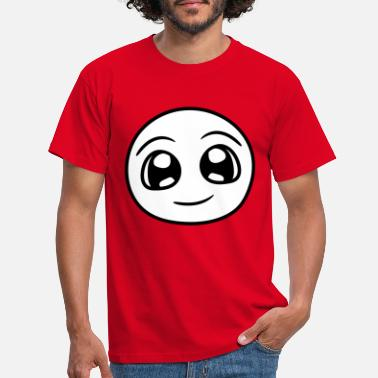 Headdress head face round cute cute big eyes comic - Men's T-Shirt