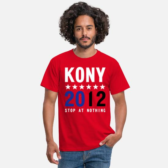 2012 T-Shirts - KONY 2012 STOP AT NOTHING - Men's T-Shirt red