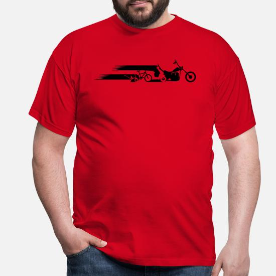 bee987035 Motorcycle chopper tail evolution Men's T-Shirt | Spreadshirt