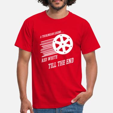 Rot Red White Till The End - Männer T-Shirt