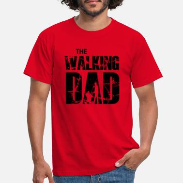 The Walking Dad with stroller (zwart) - Mannen T-shirt