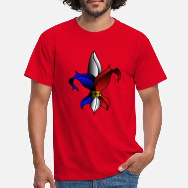 Blue Lily, Red White. - Men's T-Shirt